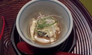 丸豆腐湯葉蒸し