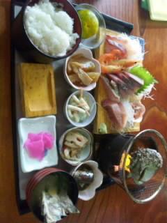 刺身・サザエ定食