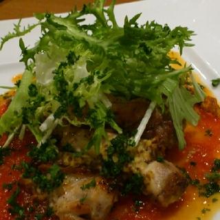 鶏モモ肉の小悪魔風 トマトのガストリックソース