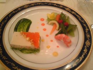 タラバ蟹とブロッコリーのガトー仕立て