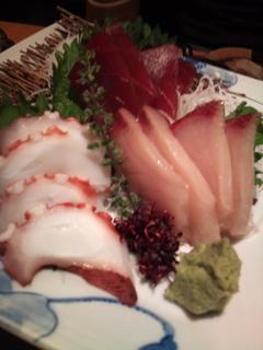 旬魚のお刺身3種盛り