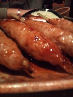 鶏つくね炭火焼 秘伝タレ