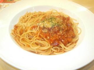 自家製トマトソースのスパゲティ