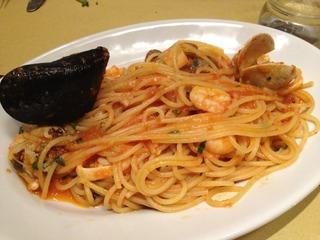 海の幸のスパゲティ トマトソース
