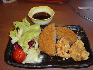メンチカツと鶏の唐揚げ