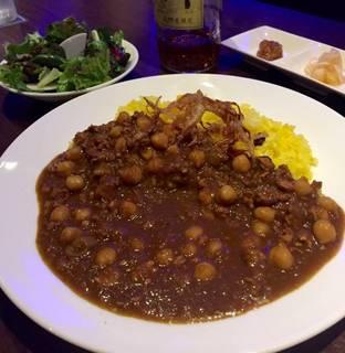 ひよこ豆と鶏肉のキーマカレー