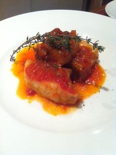 しっかり煮込んだ豚バラのトマト煮