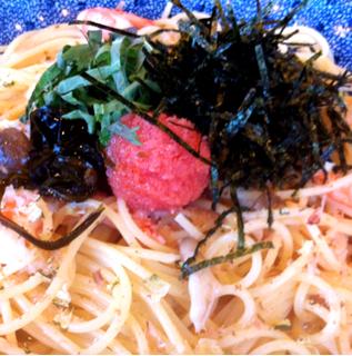 青じそと明太子のスパゲティ