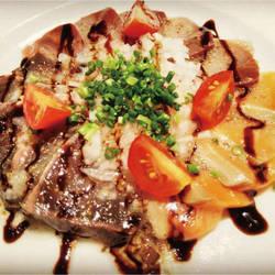 海の幸 3種鮮魚のカルパッチョ~バルサミコ風味