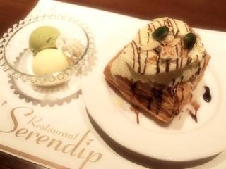 熱々アップルパイのアイスクリーム