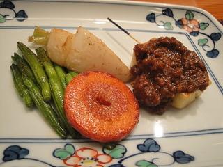 生麩田楽と野菜焼