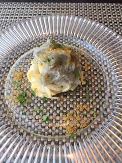 カラスミと生しらすの冷製スパゲッティーニ