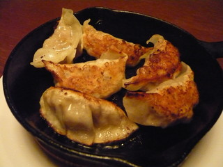 栗と白レバーの焼き餃子