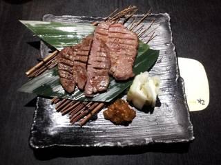 仙台風厚切り牛タンの炙り焼き
