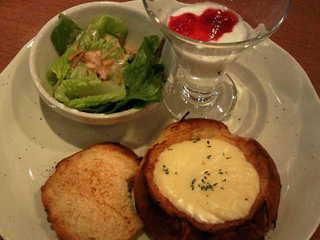 パンのチーズフォンデュセット