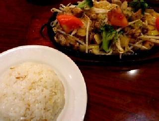 チキンと野菜のジュージュー鉄板焼き