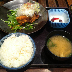鶏ねぎ香味唐揚げ定食