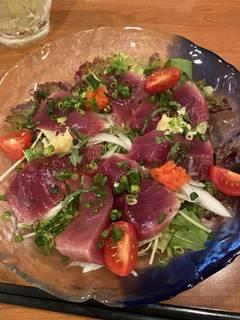 カツオの彩り野菜