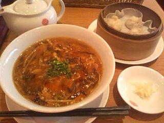 黒酸辣湯麺セット