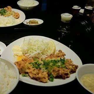 鶏の唐揚げユーリンチー定食