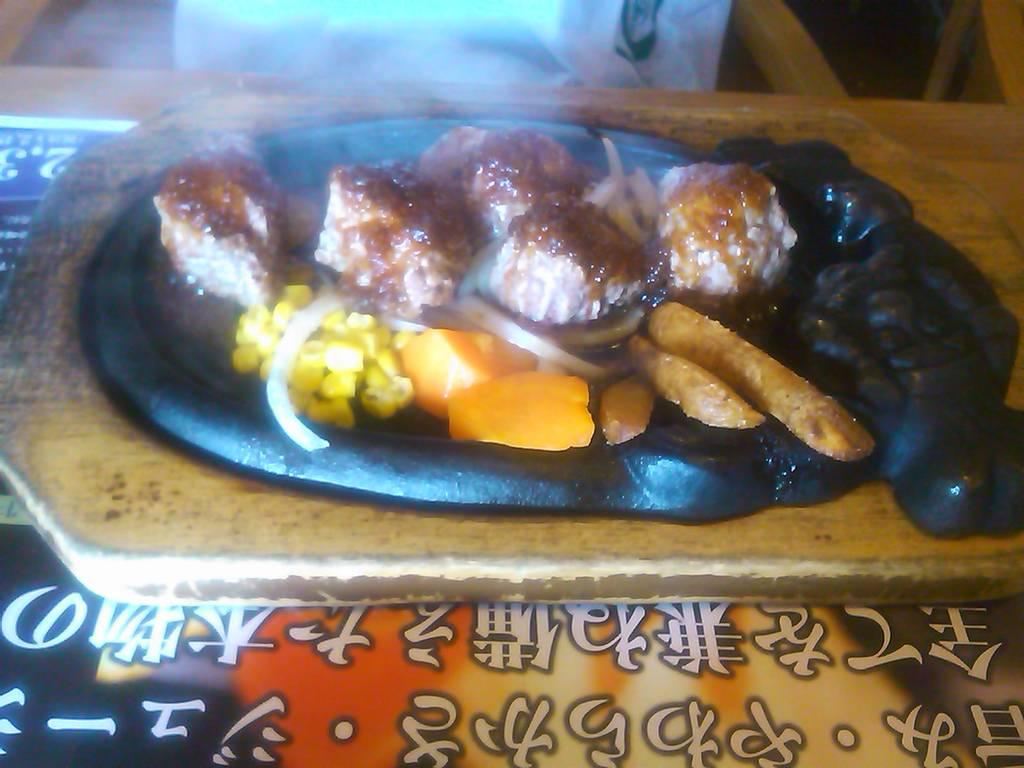 炭焼きやわらか厚切りカットステーキ ランチ