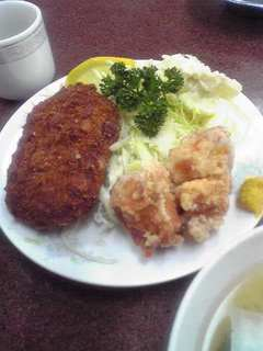 コロッケ・鶏唐定食
