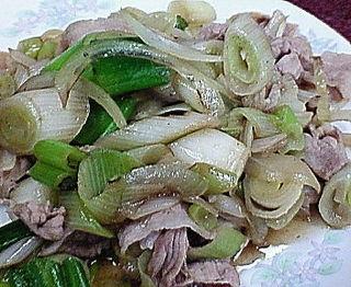 ねぎ肉炒め定食