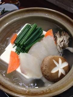 湯豆腐ひらめ入り