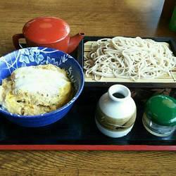 ミニかつ丼と蕎麦のセット