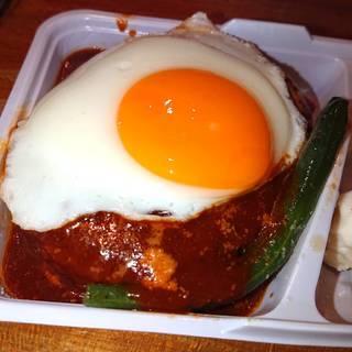オリジナルソースのハンバーグ弁当