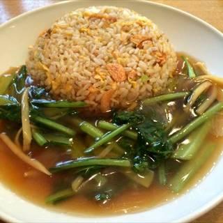 青菜あんかけガーリック炒飯
