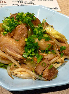 豚角煮入り野菜炒め