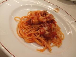 ベーコンとトマトのスパゲッティ