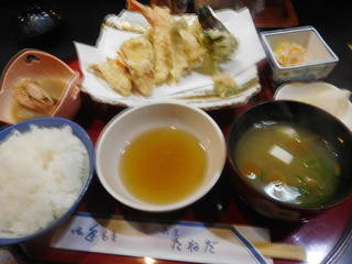天ぷら定食㊤