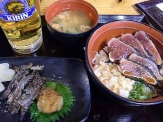 カツオのタタキ丼
