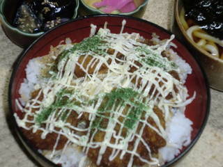 ヒレソースマヨかつ丼セット