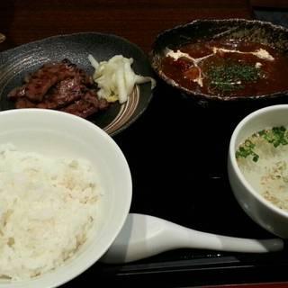 牛タン炭焼&牛タンシチュー定食