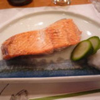 桜鱒の焼き魚