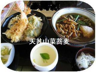 天丼山菜蕎麦