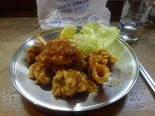 鶏の唐揚げ酢コチュジャンソース