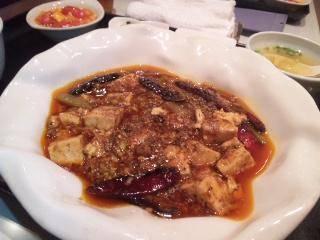 四川産サンショウの効いた激辛マーボードーフ
