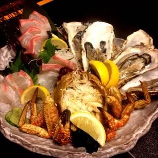 毛蟹(栗蟹)または鯛姿造りサービス