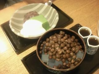 豆カンと抹茶ババロア