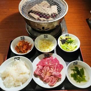 牛角カルビ&牛ロース定食