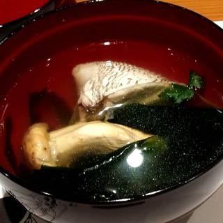 松茸と鯛のお吸い物
