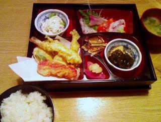 お造り天ぷら定食