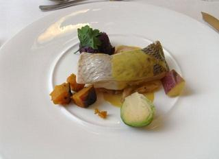 本日の鮮魚とズワイ蟹のクッサン 季節の彩り野菜添え