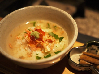フカヒレとキヌガサ茸のスープ
