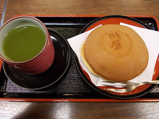 中どら&煎茶セット