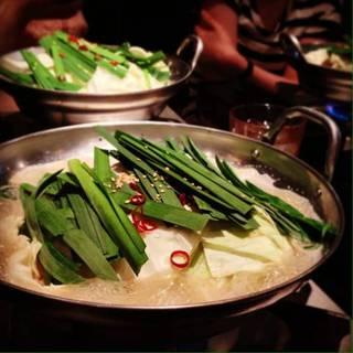 ランチ モツ鍋定食 塩トンコツ味